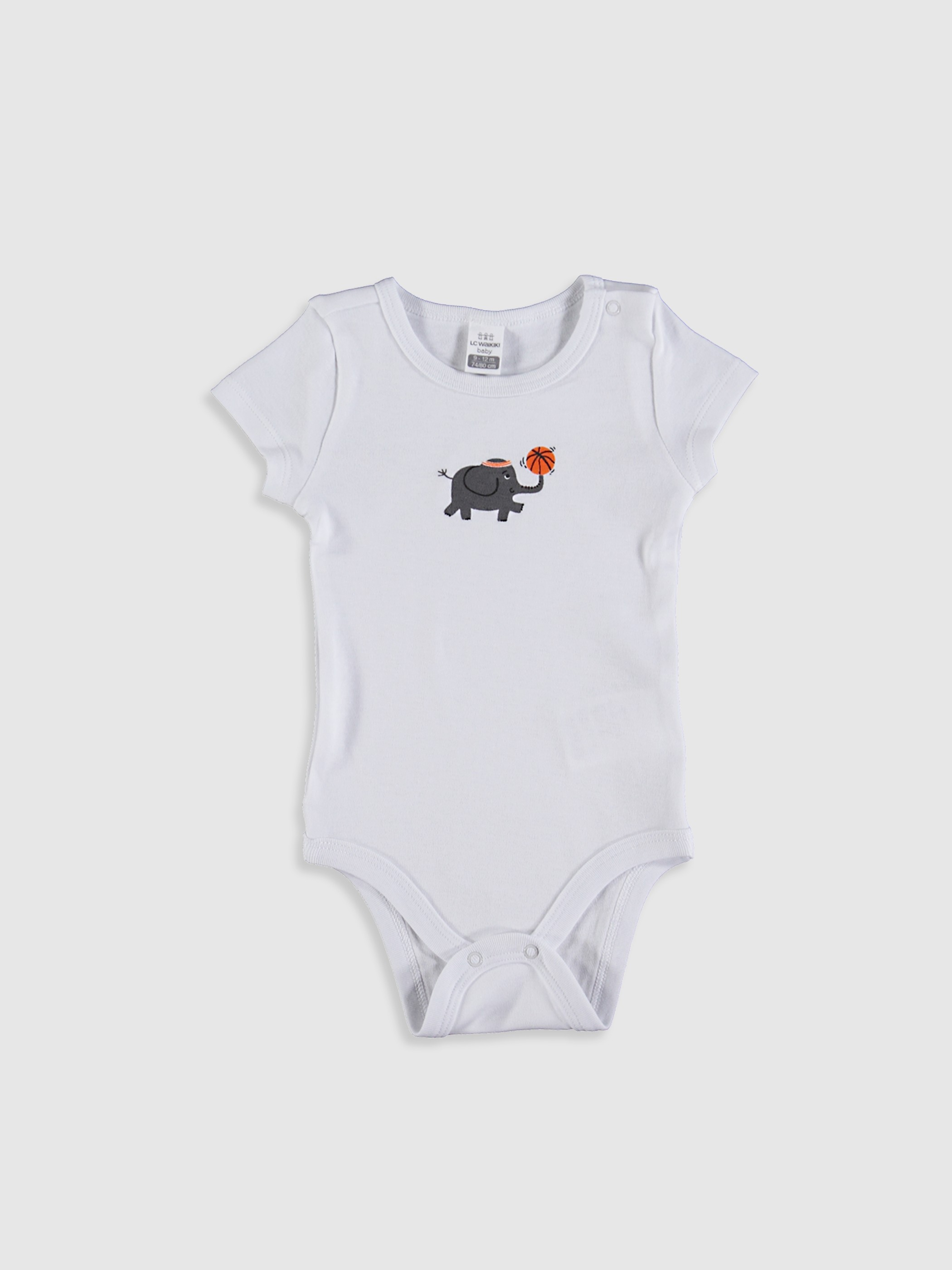 WHITE - Baby Boy's Printed Bodysuit - 0SE968Z1