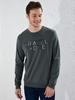 KHAKI - Printed Crew Neck Sweatshirt - 0SF290Z8