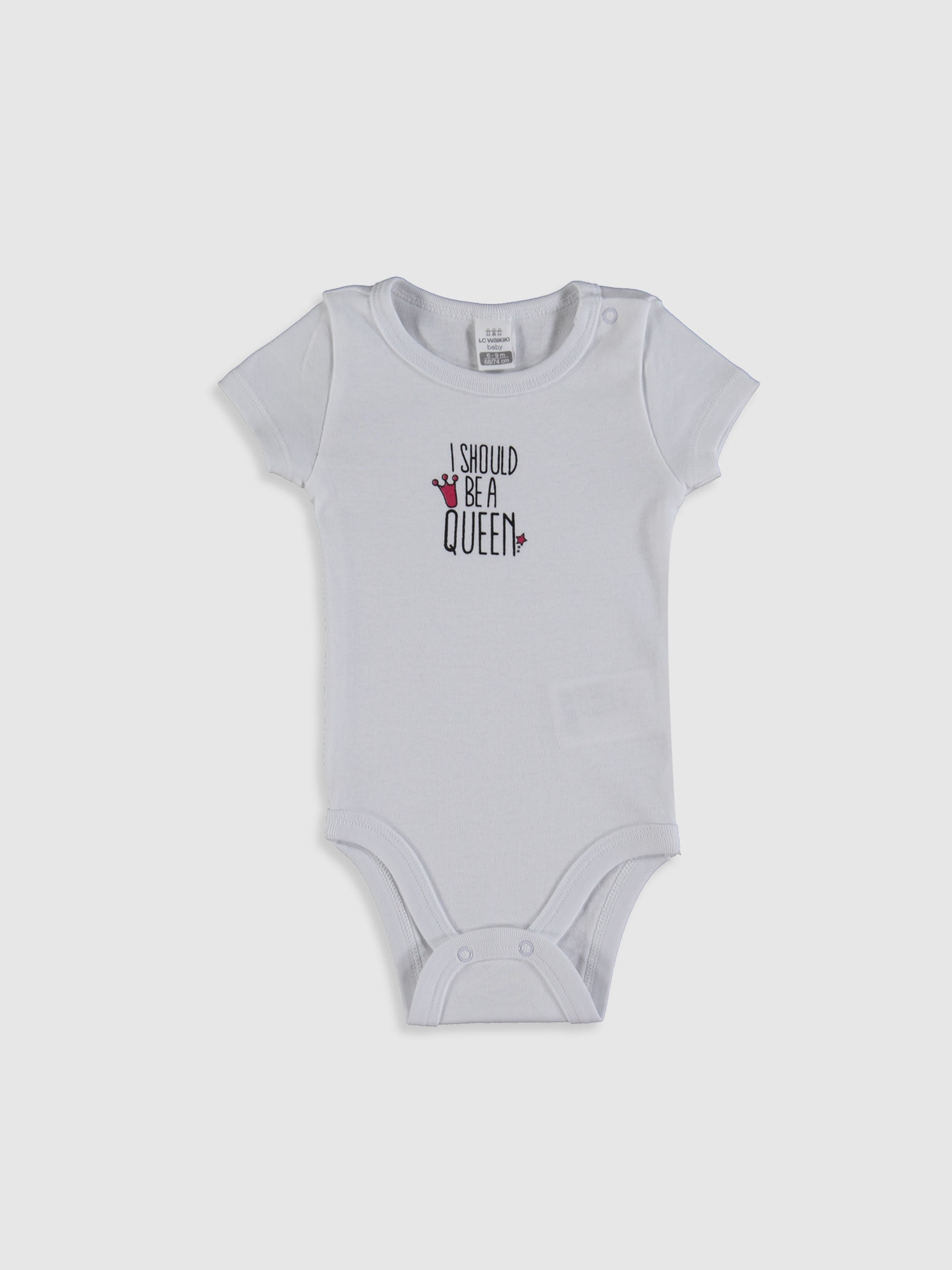 WHITE - Baby Girl's Printed Bodysuit - 0SE887Z1