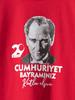 RED - Girl's Ataturk Printed Cotton T-Shirt - 0W4023Z4