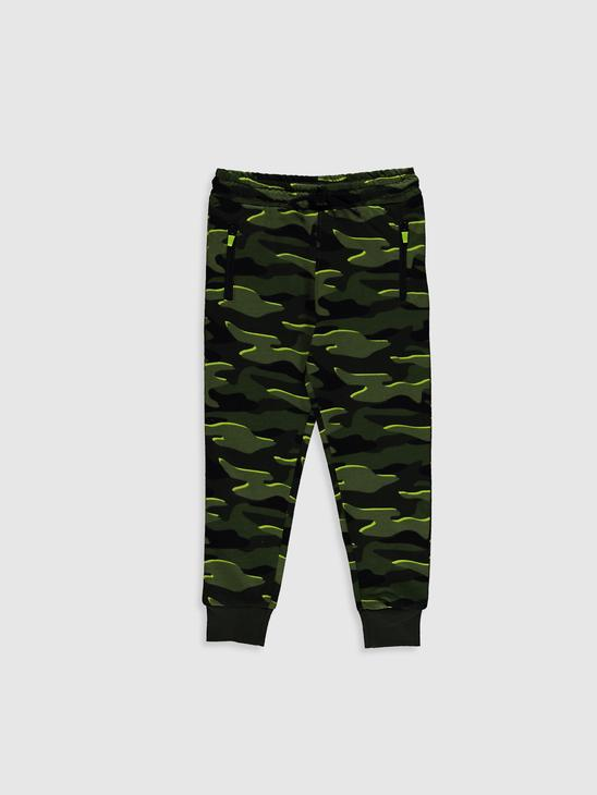KHAKI - Boy's Camo-Figured Jogger Sweatpants - 0W3979Z4