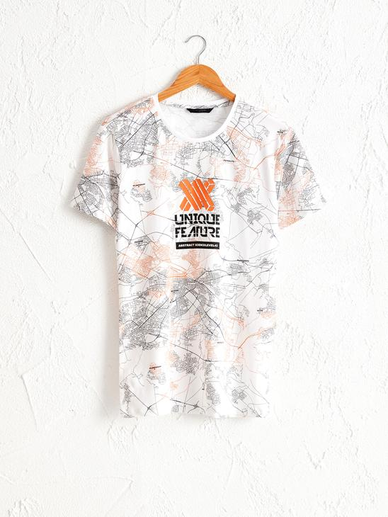 WHITE - Crew Neck Printed Combed Cotton T-Shirt - 0W4471Z8