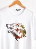 WHITE - Crew Neck Printed Combed Cotton T-Shirt - 0W4501Z8
