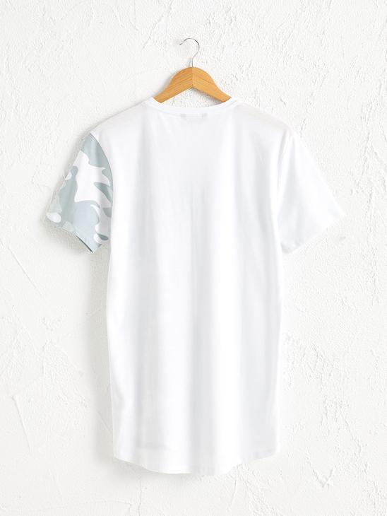 WHITE - Crew Neck Printed Combed Cotton T-Shirt - 0W4499Z8