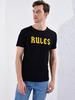 BLACK - Crew Neck Printed Combed Cotton T-Shirt - 0W4518Z8