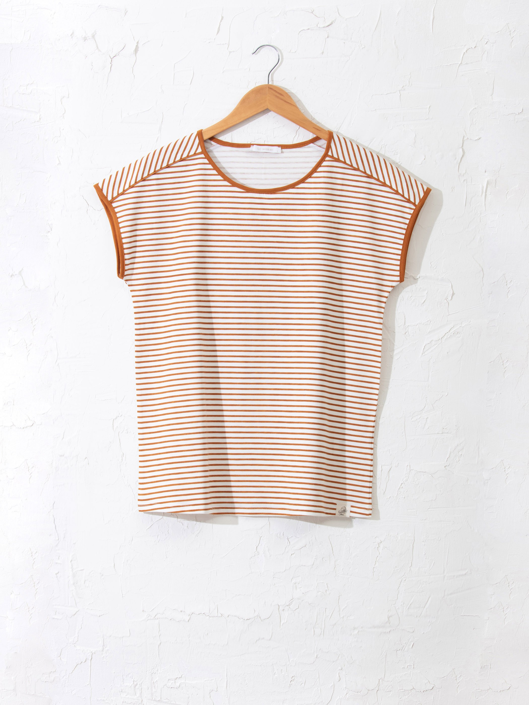 YELLOW - Striped Organic Cotton T-Shirt - 0SQ255Z8