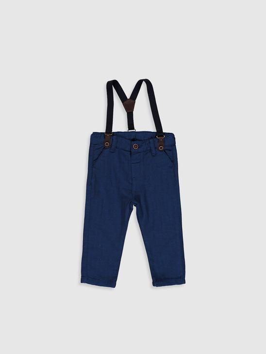 NAVY - Baby Boy's Trousers and Suspenders - 0W7623Z1
