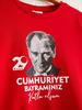 RED - Boy's Ataturk Printed Cotton T-Shirt - 0W7702Z4