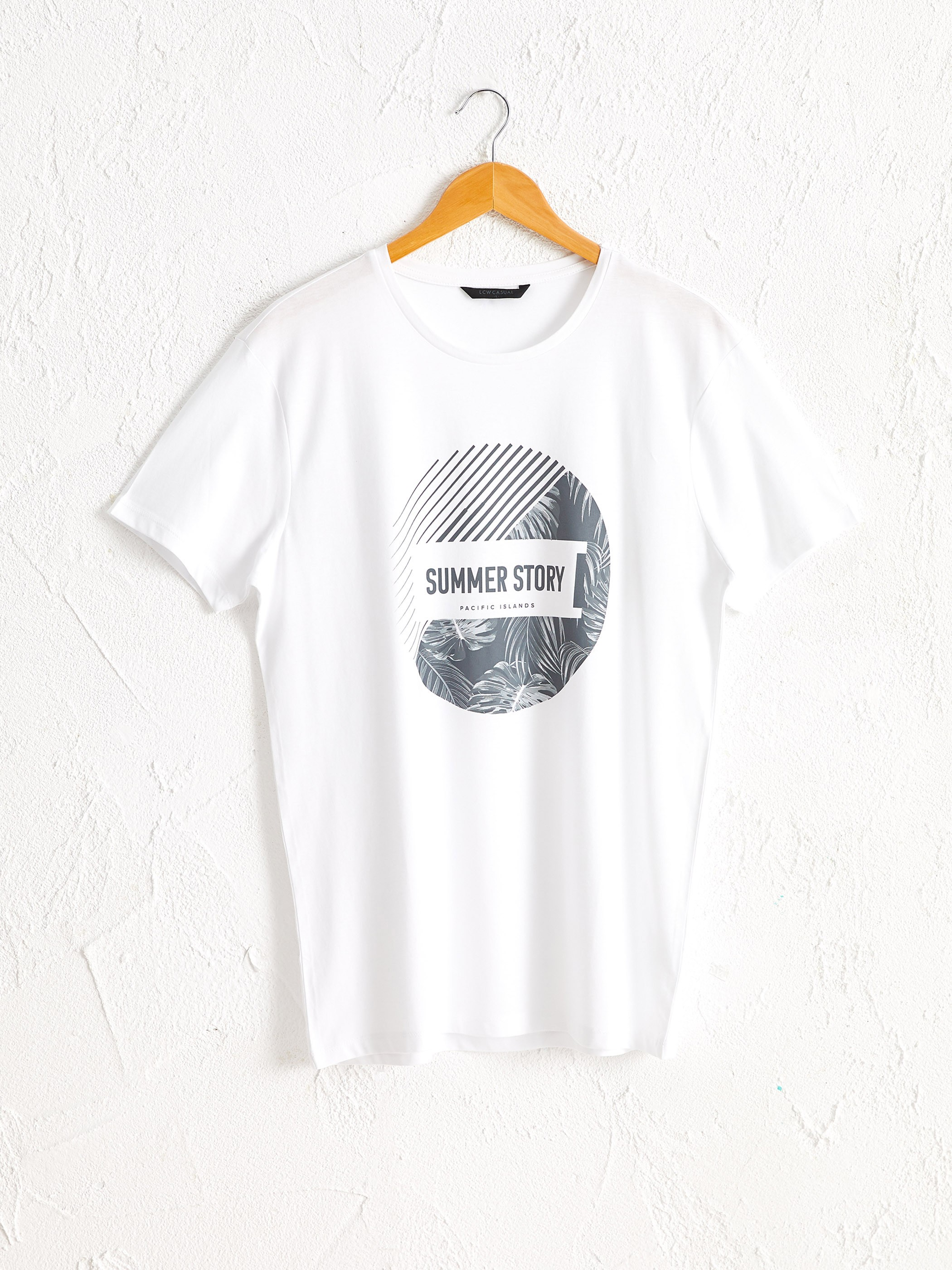 WHITE - Crew Neck Printed T-Shirt - 0SS204Z8