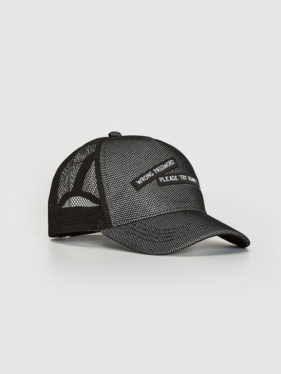 BLACK - Mesh Detailed Hat - 0W8216Z4