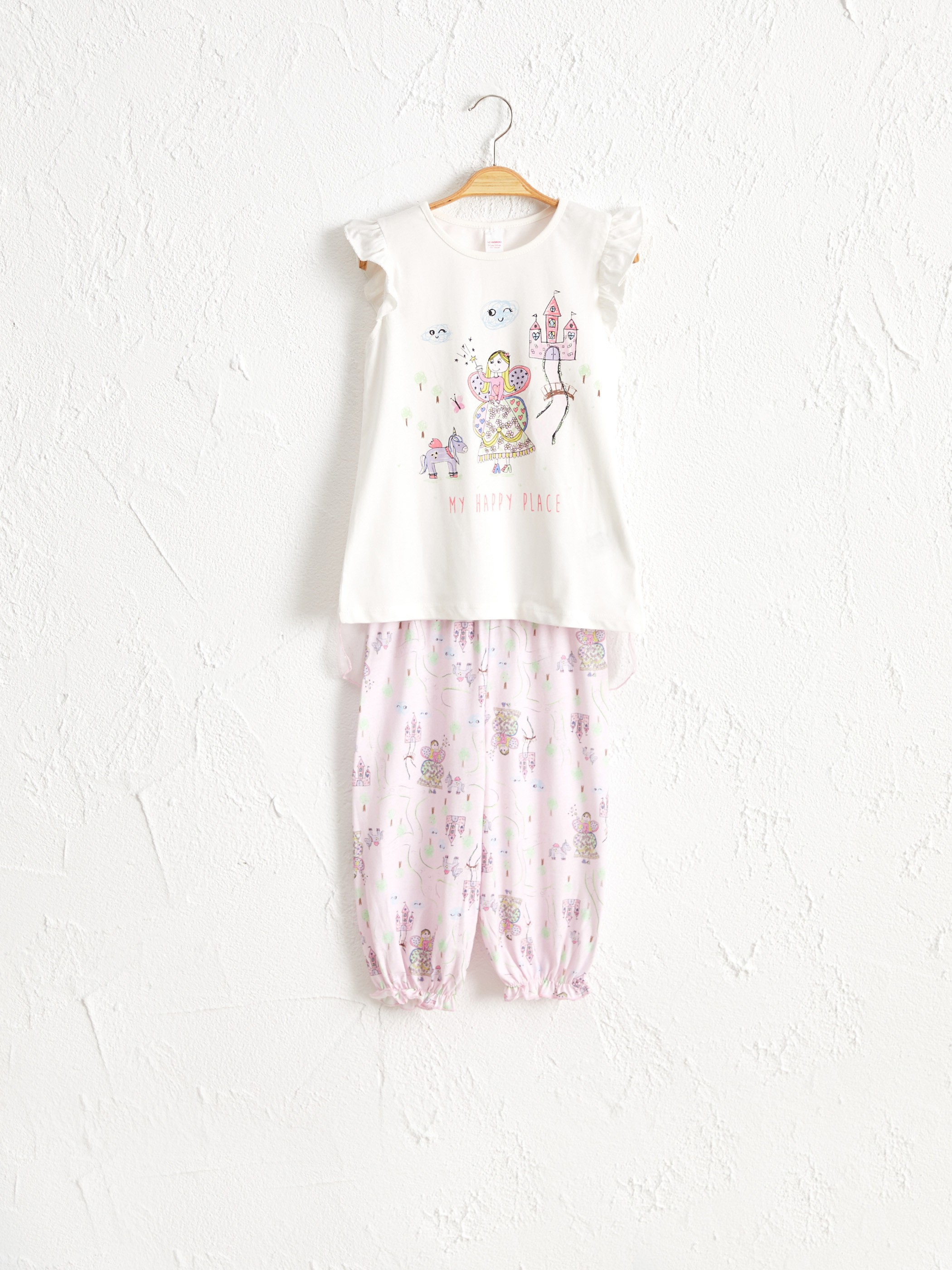 ECRU - Girl's Printed Cotton Pyjamas Set - 0SS936Z4