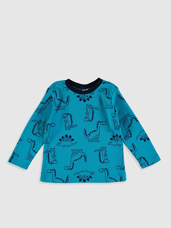 TURQUOISE - Baby Boy's Printed Cotton Pyjamas Set - 0SS725Z1