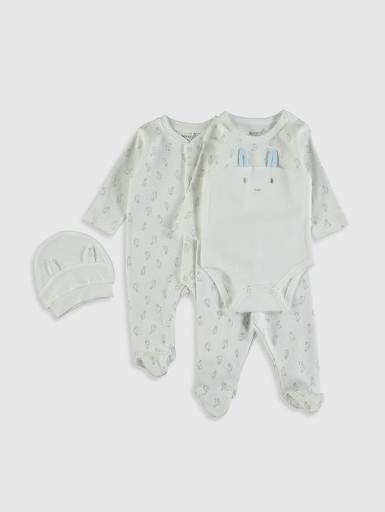 WHITE - Newborn Set - 0ST372Z1