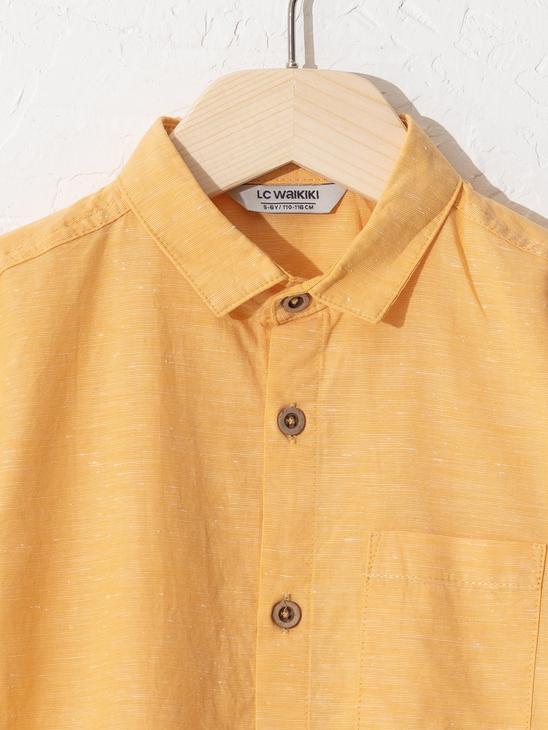 YELLOW - Boy's Poplin Shirt - 0SU095Z4