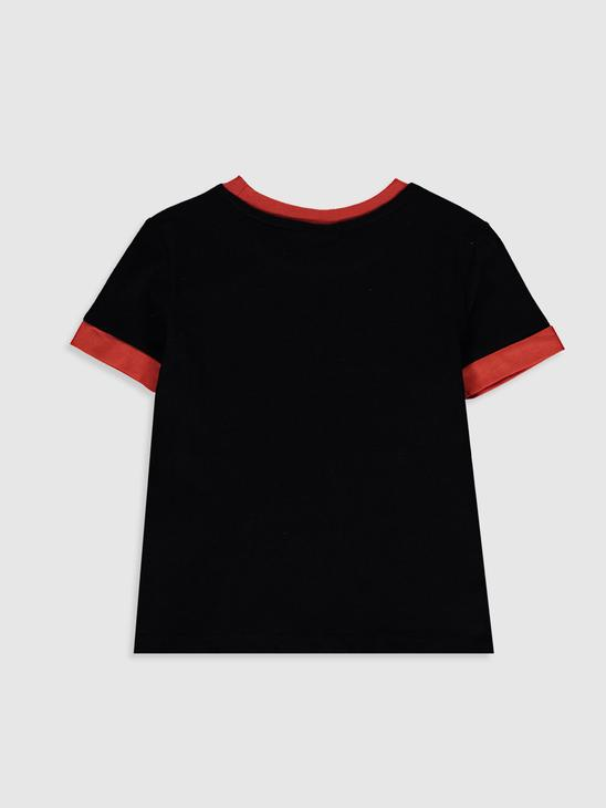 BLACK - Boy's Printed T-Shirt - 0SU051Z4