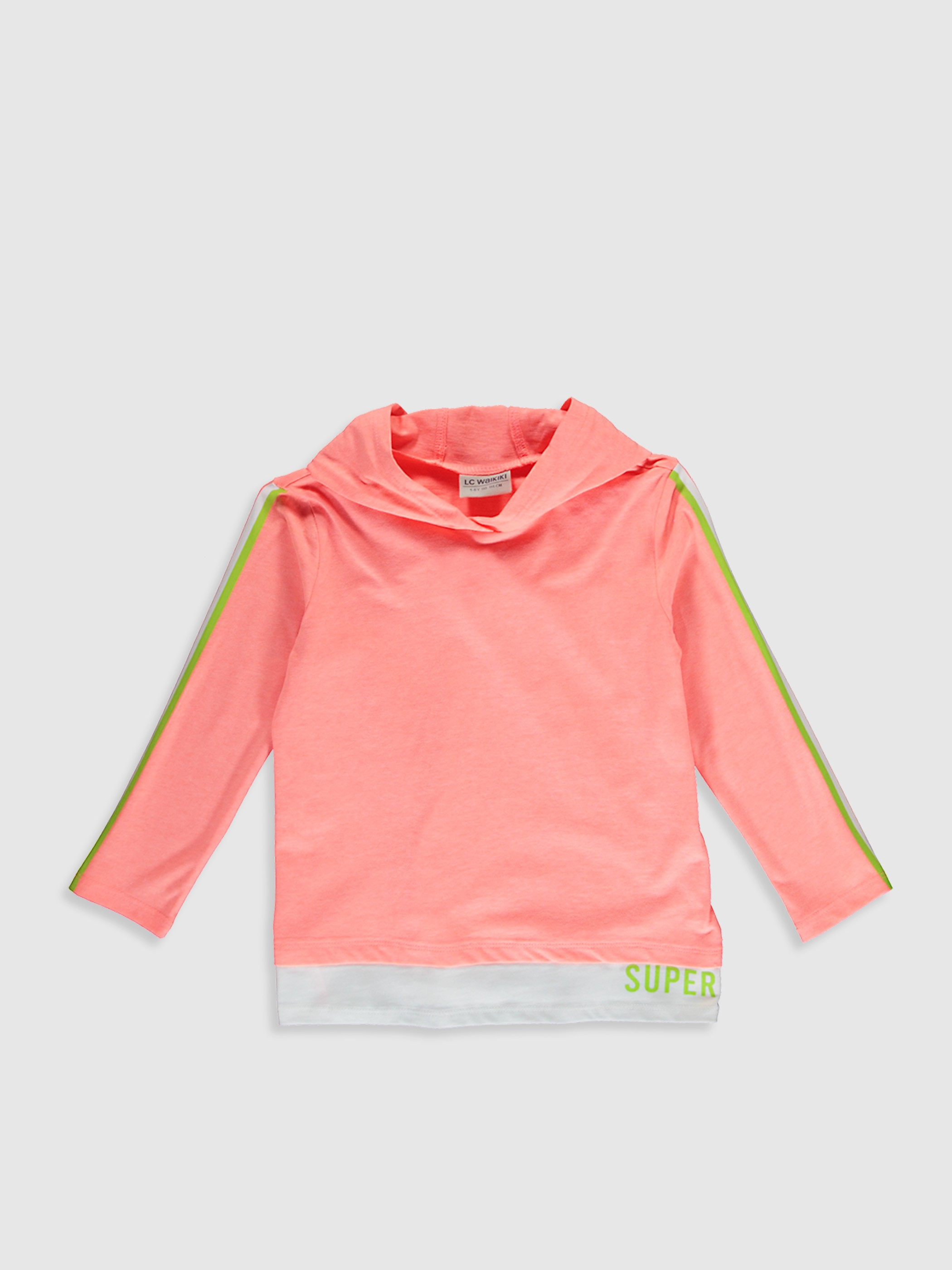 CORAL - Girl's T-Shirt with Hood - 0W9359Z4