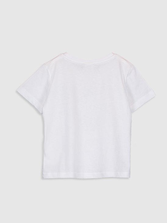 WHITE - Boy's Printed T-Shirt - 0SU050Z4