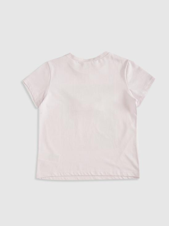 LILAC - Girl's Printed Cotton T-Shirt - 0SU535Z4