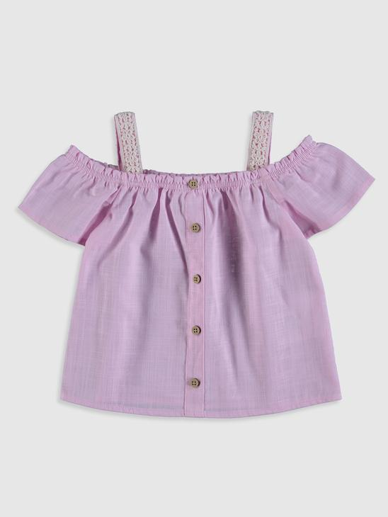 PINK - Baby Girl's Cotton Blouse - 0SV448Z1
