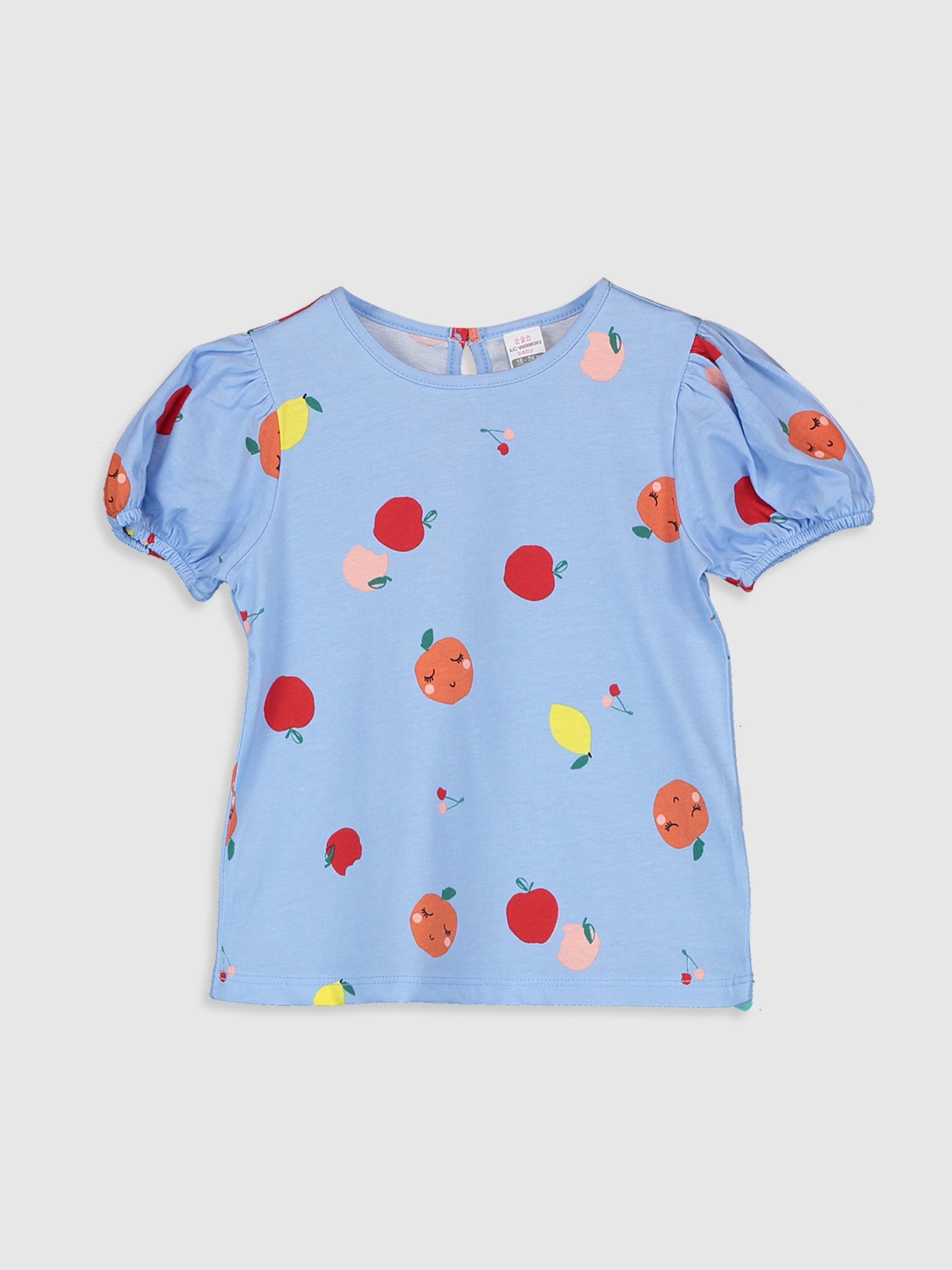 BLUE - Baby Girl's Printed Cotton T-Shirt - 0SV565Z1