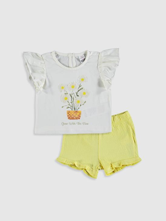 ECRU - Baby Girl's T-Shirt and Shorts Set - 0SV614Z1