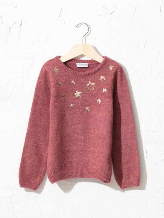 PINK - Girl's Heavy Tricot Jumper - 0W5093Z4