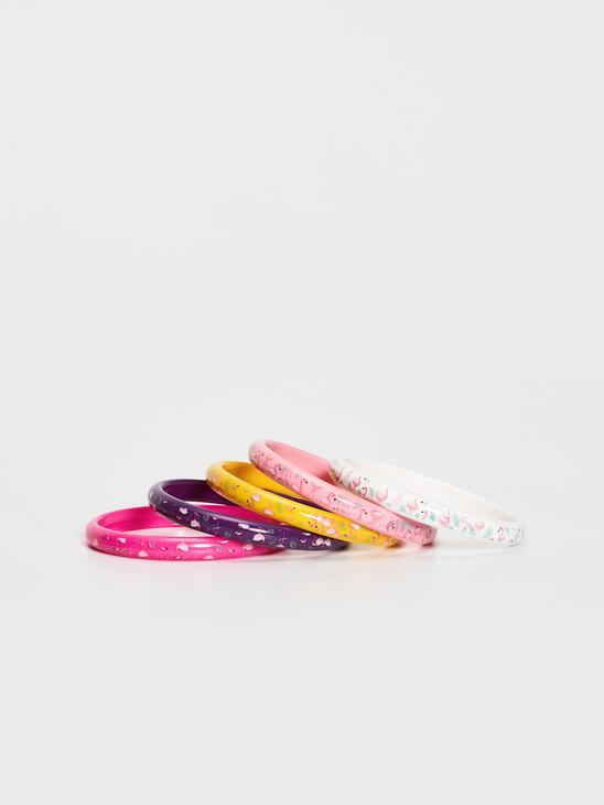MIX - 5-pack Girl's Printed Wristband - S1BB87Z4