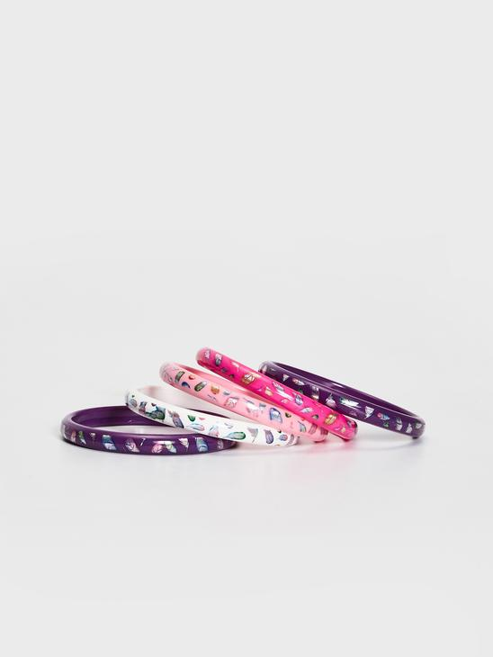 MIX - 5-pack Girl's Printed Wristband - S17535Z4