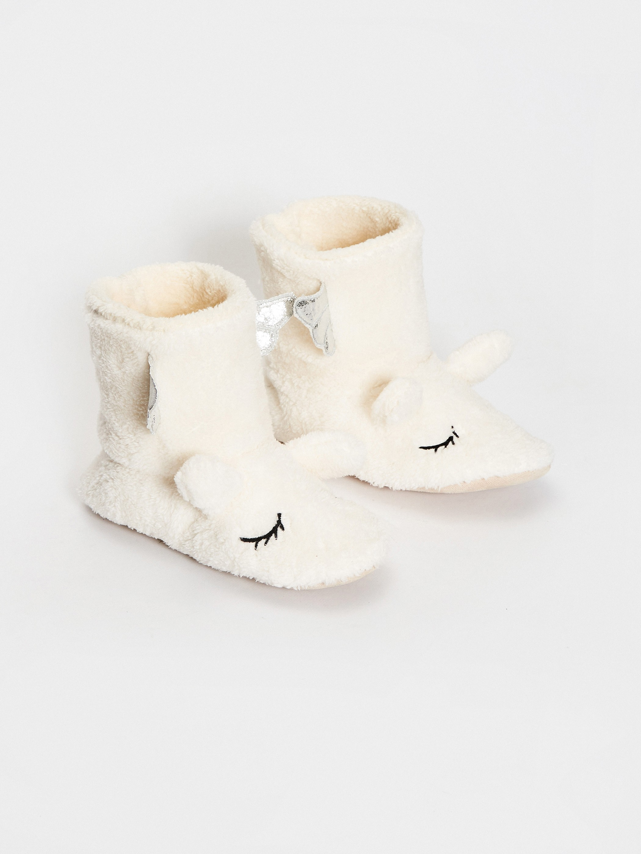 ECRU - Women's 3D Detailed Embroidered Home Boots - S1G817Z8