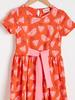 RED - Girl's Printed Cotton Dress - S1DO59Z4