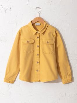 YELLOW - Girl's Twill Shirt