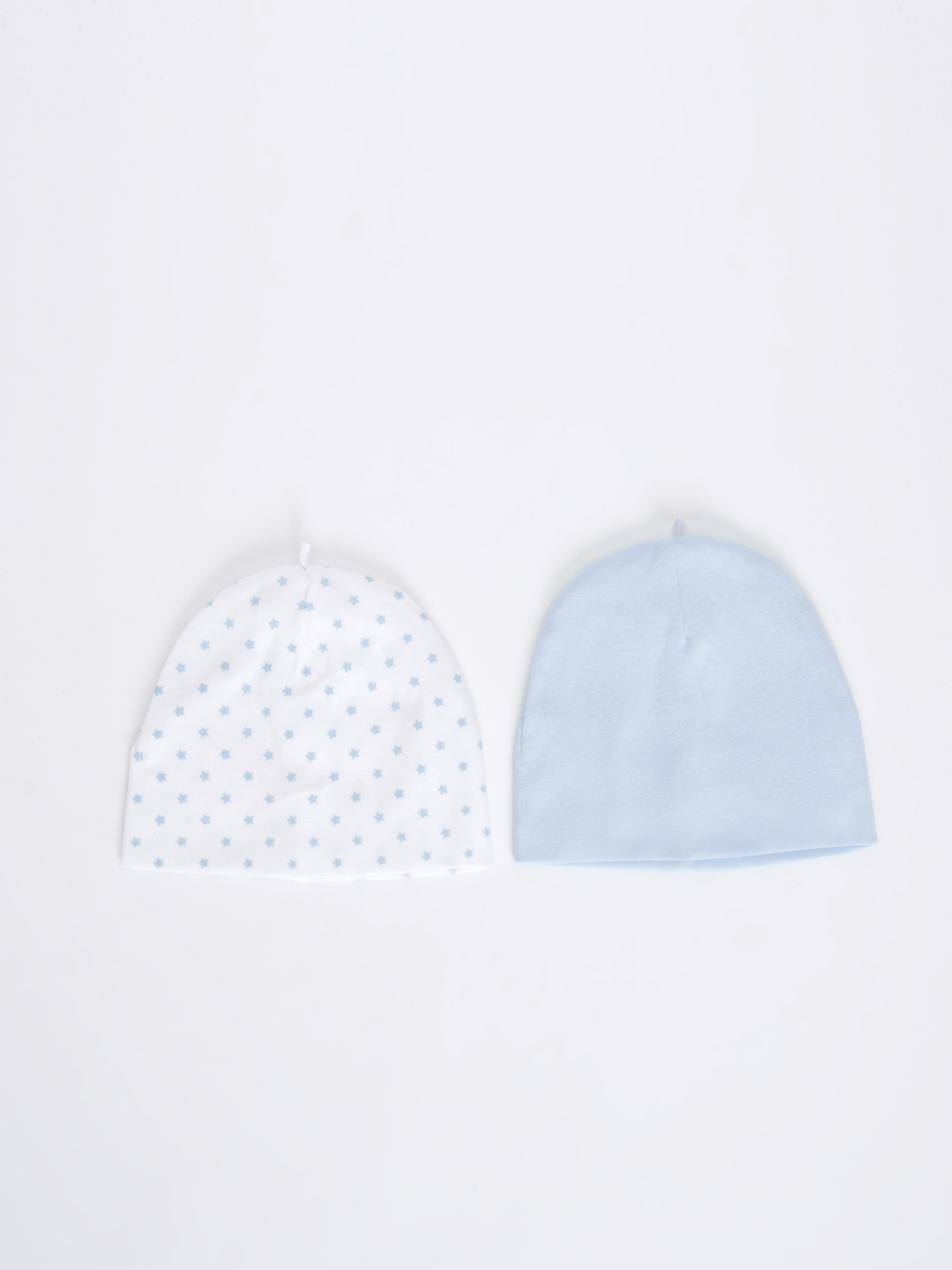 WHITE - 2-pack Baby Boy's Cotton Beret - 9S3853Z1