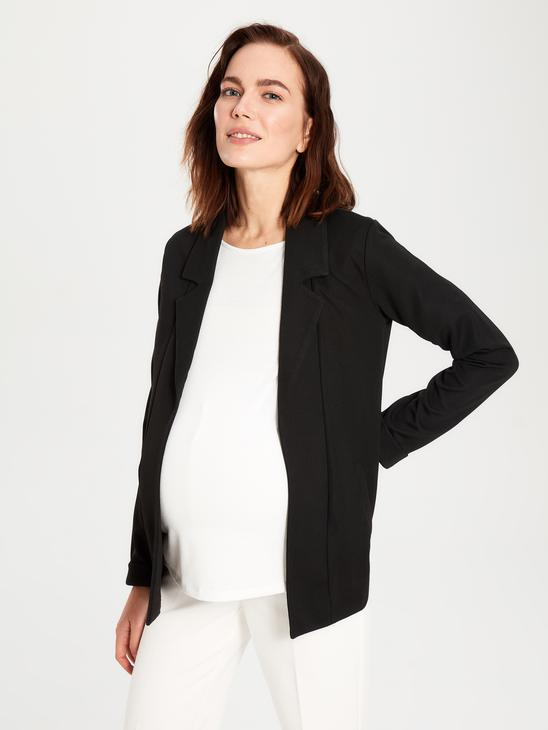 BLACK - Maternity Jacket made of Textured Fabric - 9WQ538Z8