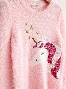PINK - Girl's Spangled Tricot Jumper - 0W8310Z4