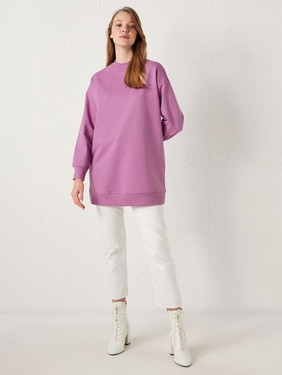 LILAC - MODEST Crew Neck Oversize Tunic - S1BE61Z8