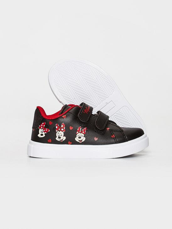 BLACK - Baby Girl Minnie Mouse Printed Sneaker - 0WIC86Z1