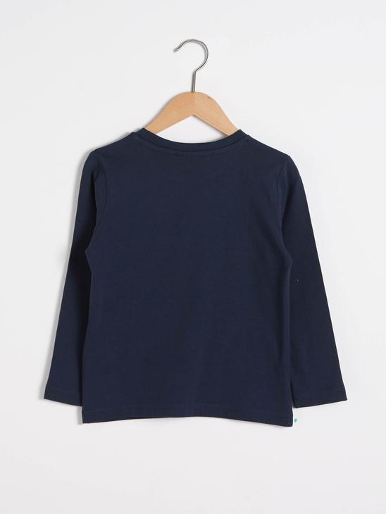 NAVY - Boy's Printed Cotton T-Shirt - S1BY53Z4