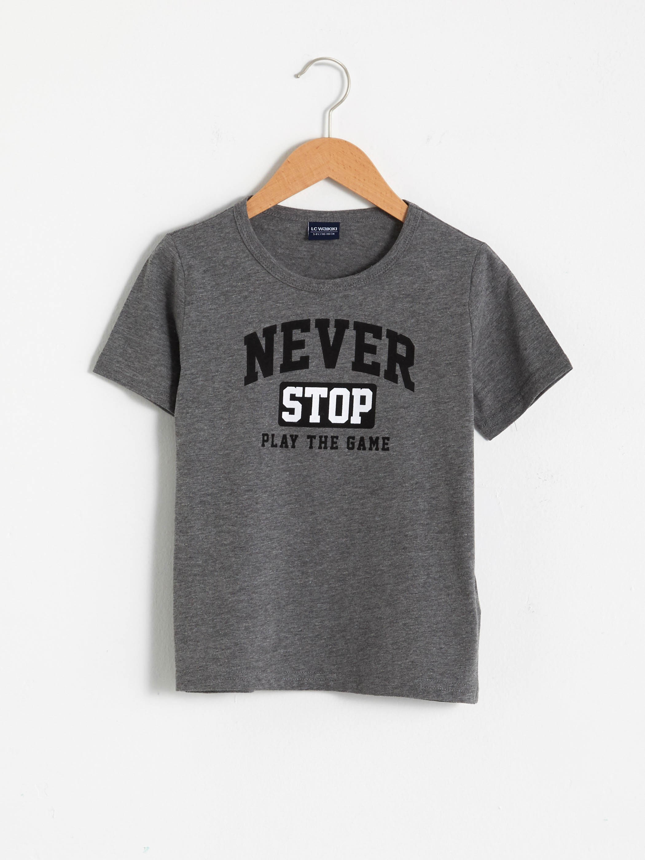 ANTHRACITE - Boy's Printed T-Shirt - S1EA01Z4