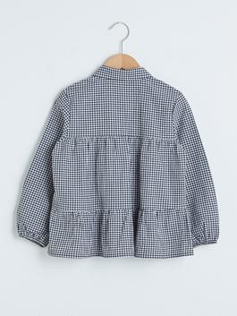 BLACK - Girl's Chequered Shirt - S1AI65Z4