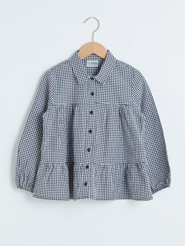 BLACK - Girl's Chequered Shirt
