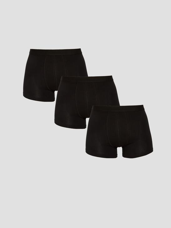 BLACK - 3-pack Stretch Fabric Standard Fit Boxers - S15299Z8