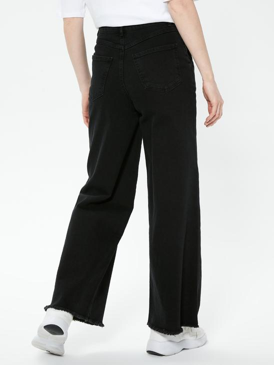 BLACK - Regular Leg Normal Waist Jeans - S1AY01Z8