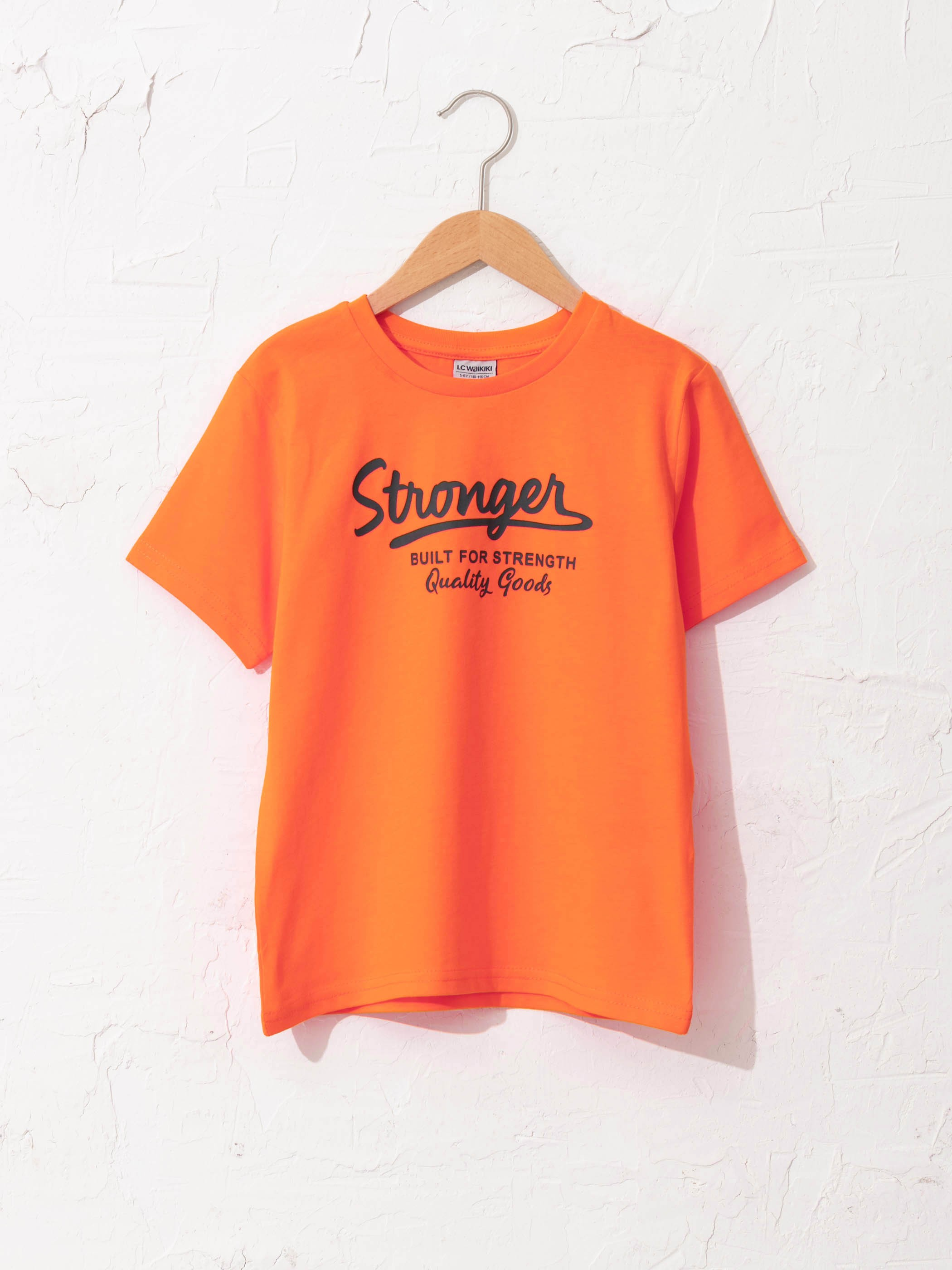 ORANGE - Boy's Printed Cotton T-Shirt - S10578Z4