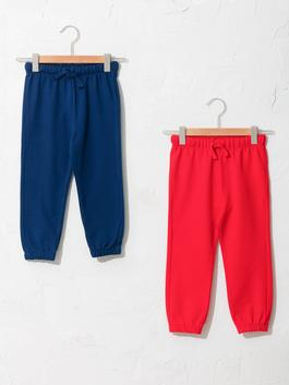 RED - Basic Baby Boy Tracksuit Bottom 2 Pieces