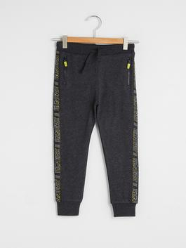 ANTHRACITE - Elastic Waist Boy Jogger Trousers
