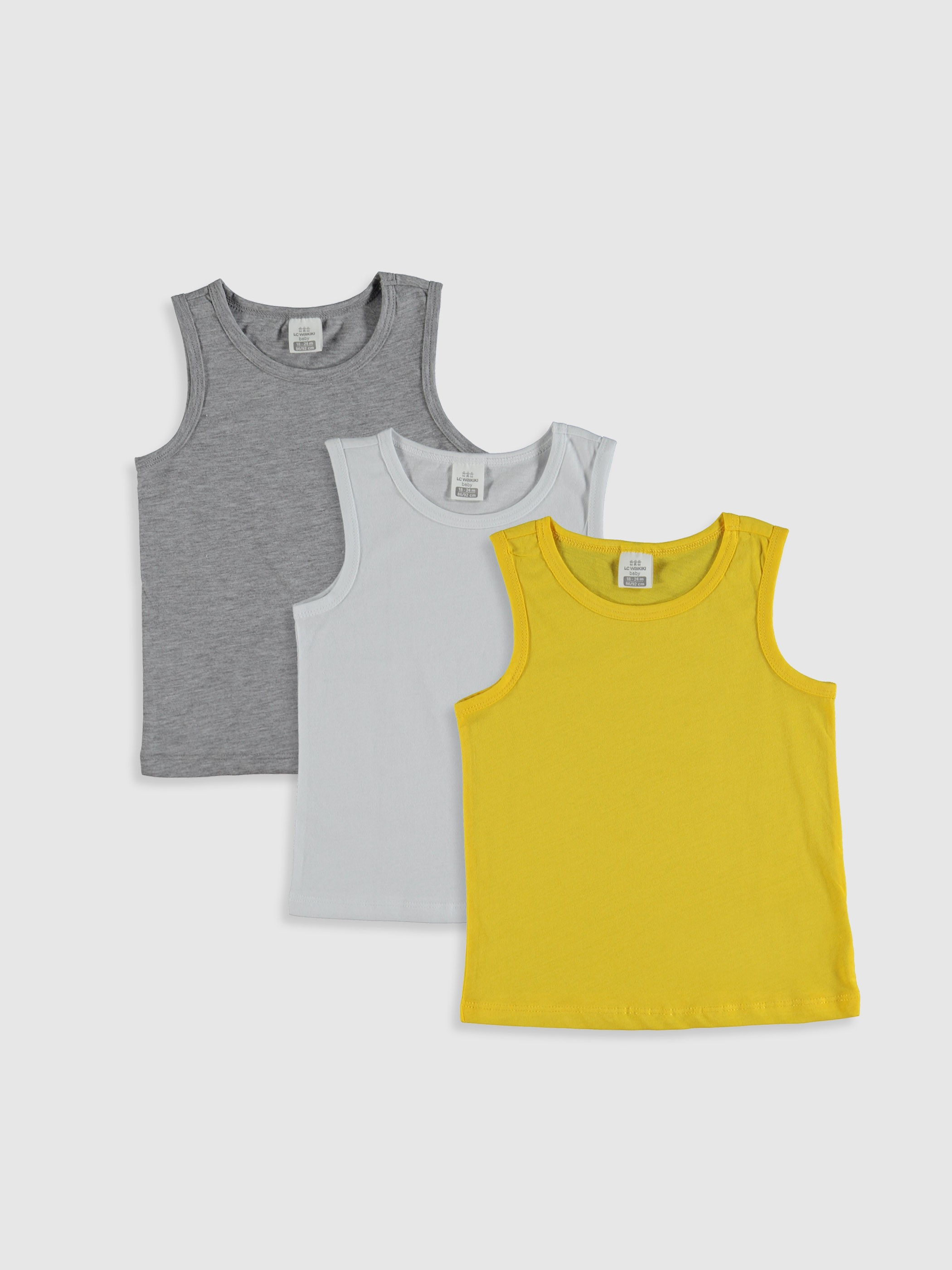 YELLOW - Athletes 3x Cotton Baby Boy - 0SY826Z1