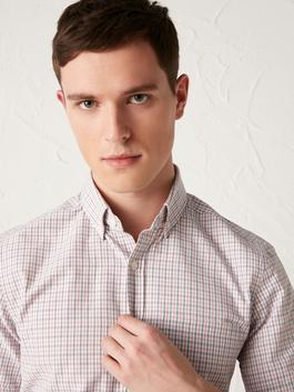 CORAL - Regular Fit Chequered Short Sleeve Shirt - S11377Z8