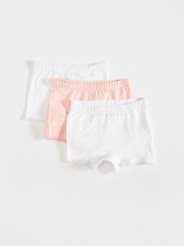 WHITE - 3-pack Baby Girl's Boxers