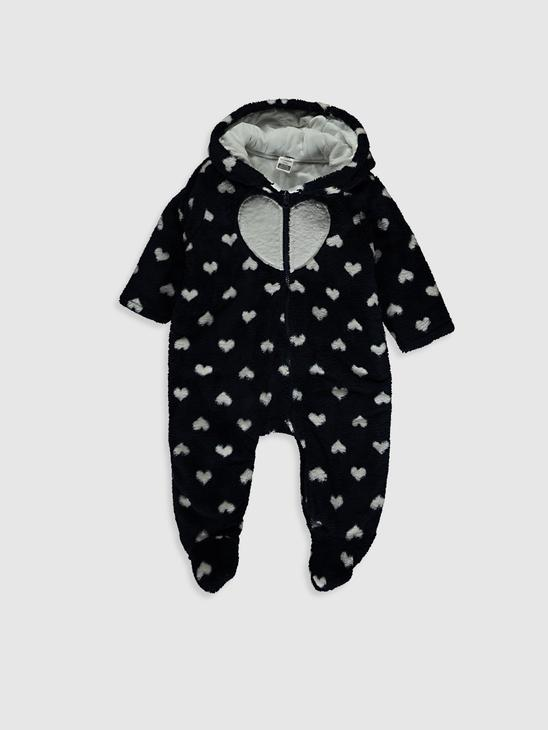 NAVY - Baby Girl's Figured Jumpsuit - 0WI665Z1