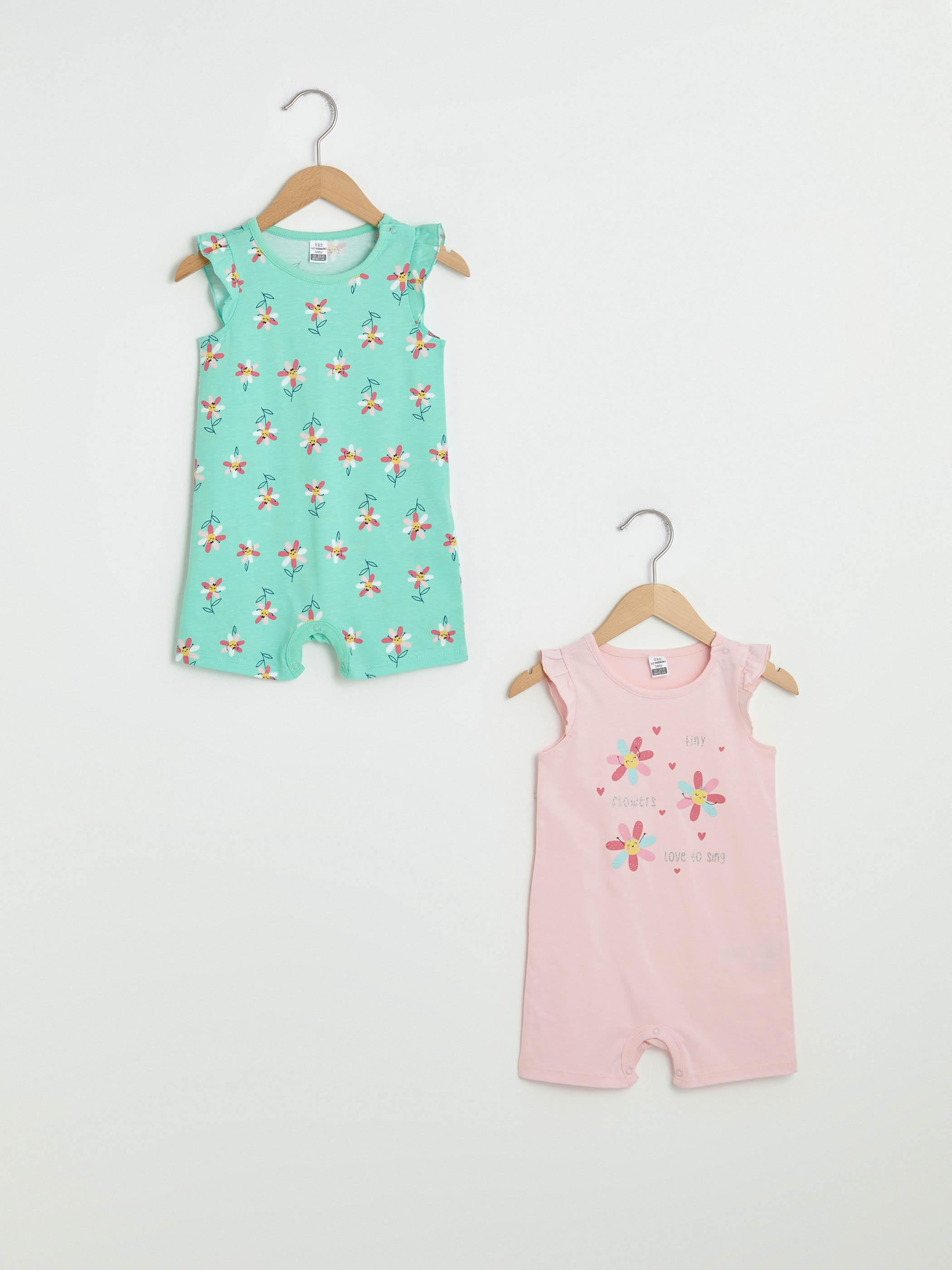 PINK - Bicycle Yala Sleeveless Printed Baby Girl Jumpsuit 2 Pieces - S13166Z1